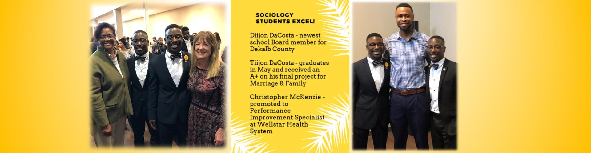 Professors celebrate outstanding Sociology students