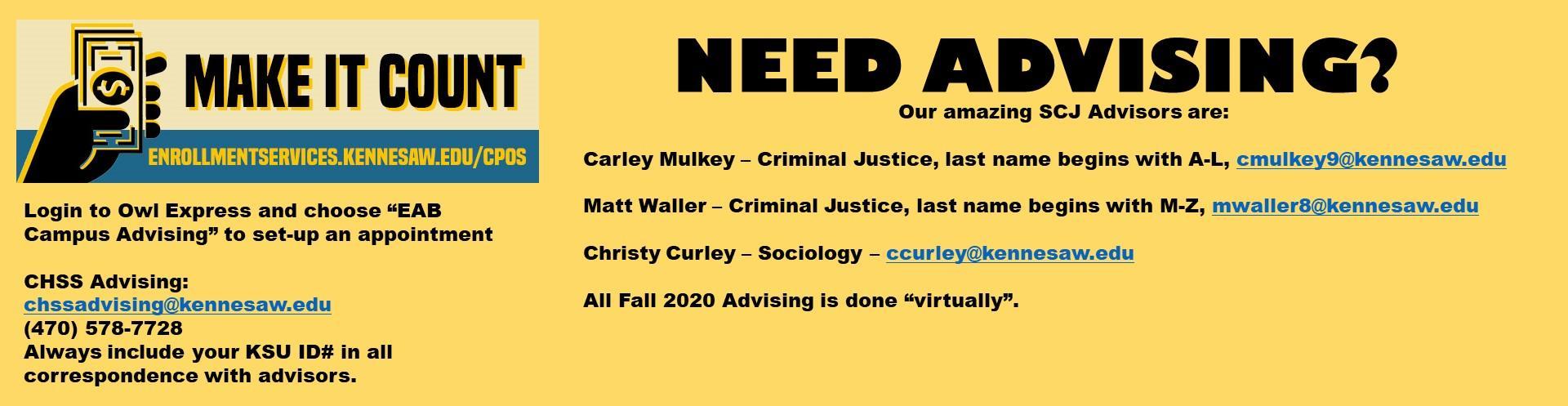 Need Advising?