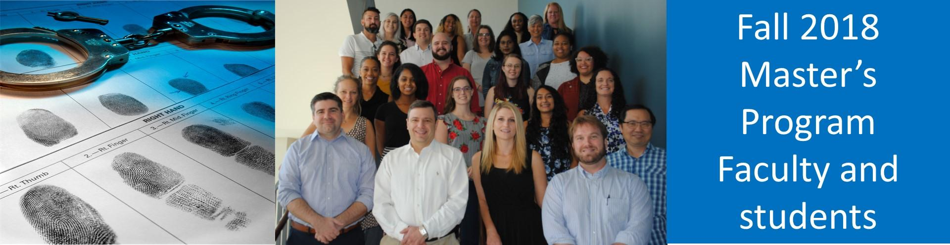 Fall 2018 MSCJ students and faculty
