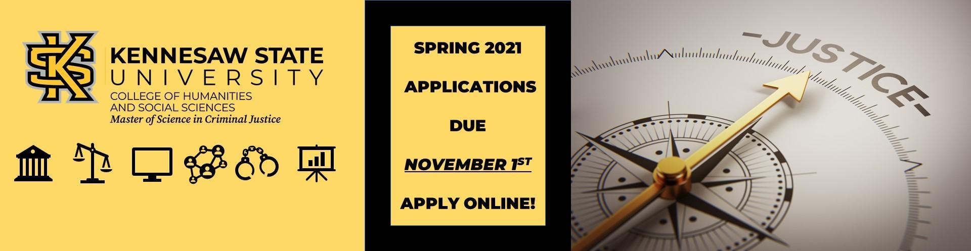 Apply online to the MSCJ Program
