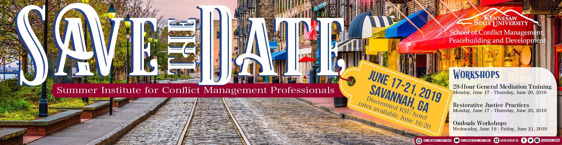 Summer Institute for Conflict Management Professionals