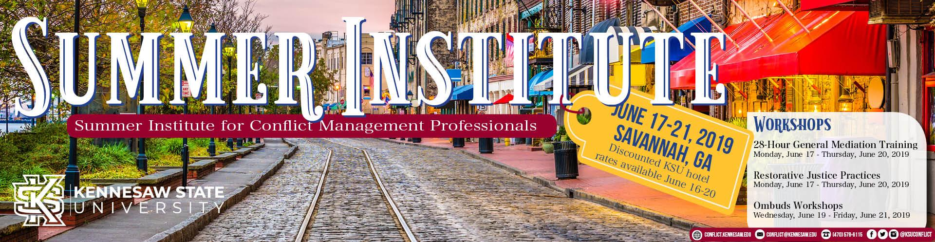 Summer Institute for Conflict Management Professionals