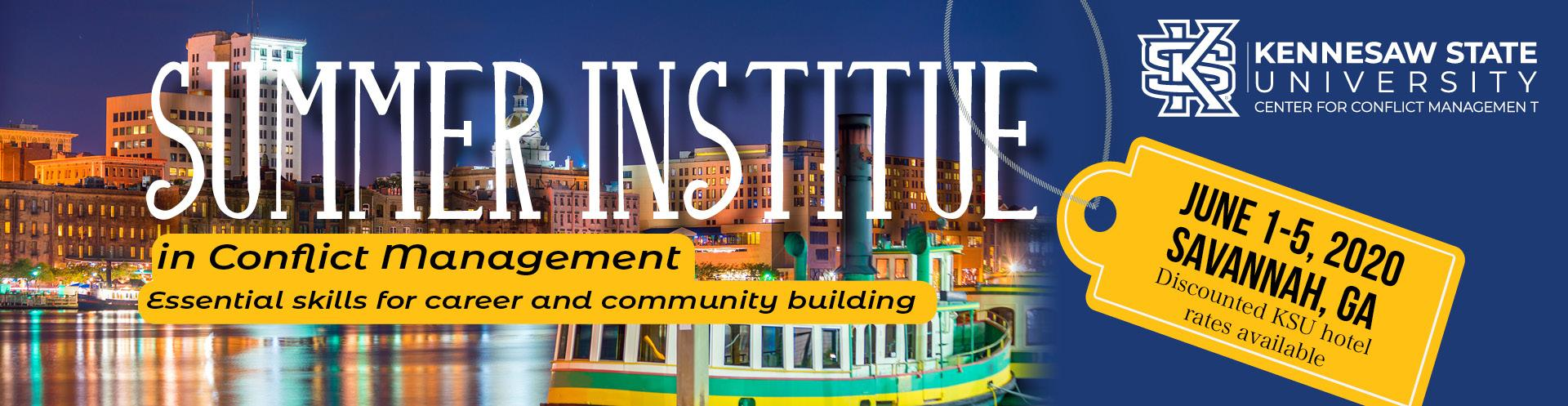 POSTPONED Summer Institute in Savannah, GA
