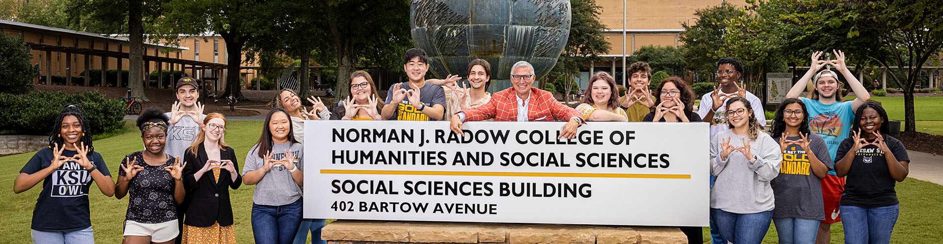 KSU celebrates naming of the Norman J. Radow College of Humanities and Social Sciences