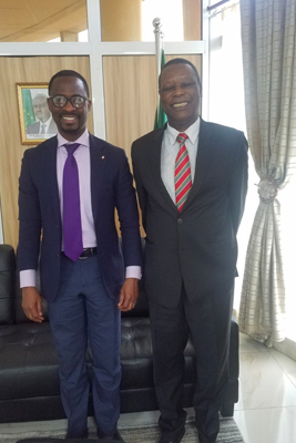 Jean-Mark Akakpo with President Buyoya