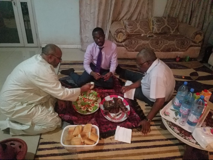 Dinner with Tuareg leaders